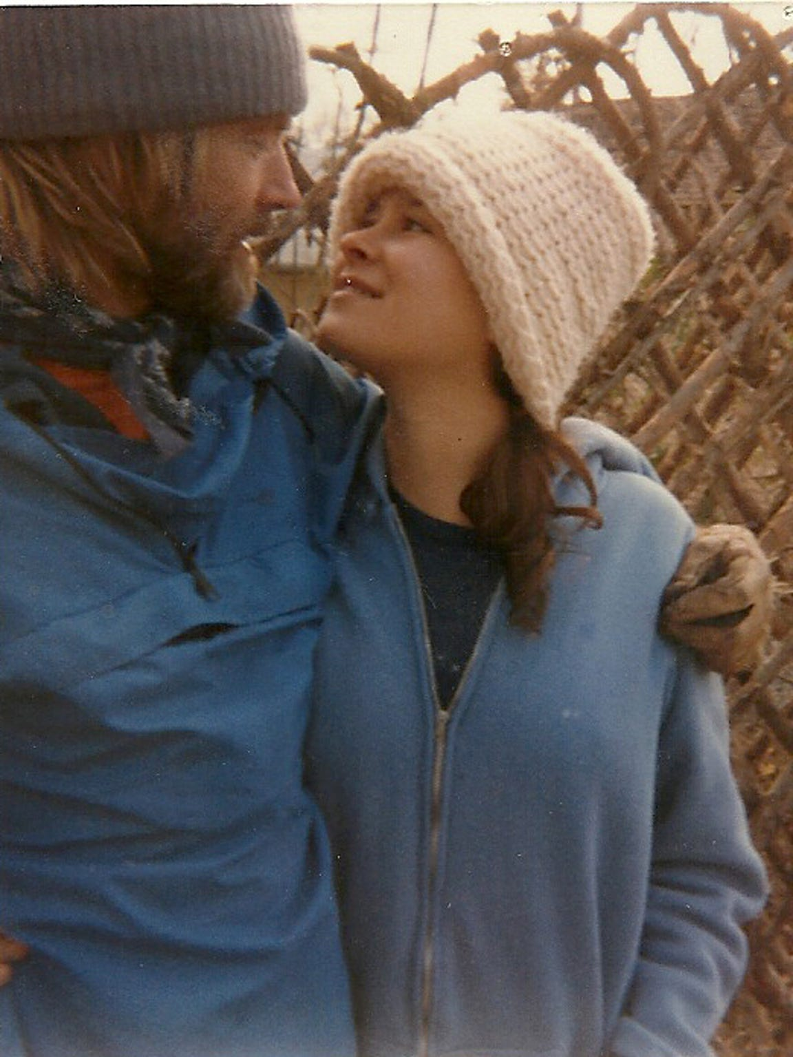 A 1984 photograph of Felix Vail and his then-wife,
