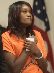 Maleia Cole of Camden, appears in court , Friday,