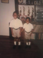 Derrick and Darryl Gordon as children. Derrick grew