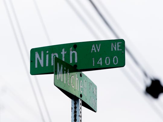The intersection of Mitchell Street and Ninth Avenue in Knoxville