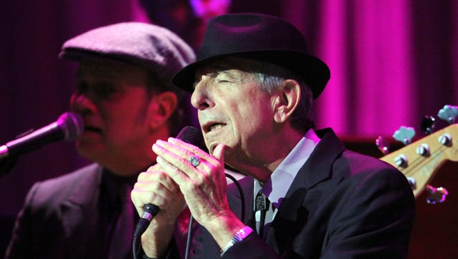 Leonard Cohen is seen performing in Atlanta in 2013.