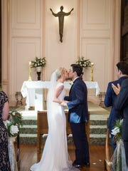 Sacred Heart chapel in Grand Coteau was the setting for the April 28 ceremony uniting Katharine and Raffaele Marino.