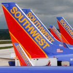 In this file photo taken May 16, 2008, Southwest Airlines jets are seen at Baltimore-Washington International Airport.