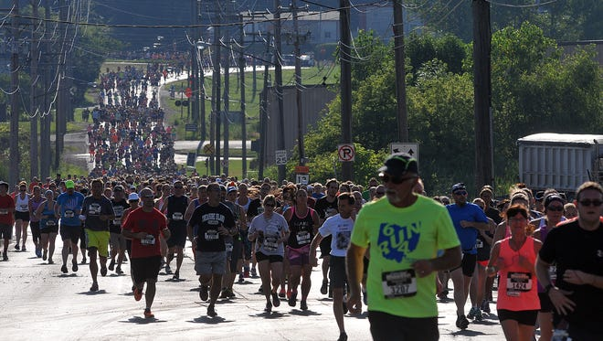 Thousands of runners participated in the first Shawshank Hustle July 25, 2015. The run returns for a second year Saturday.