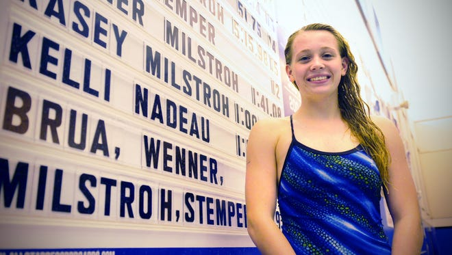 Kasey Milstroh gave a verbal commitment earlier this week to swim for the University of Minnesota next fall.