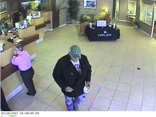 Authorities are searching for this man they say robbed
