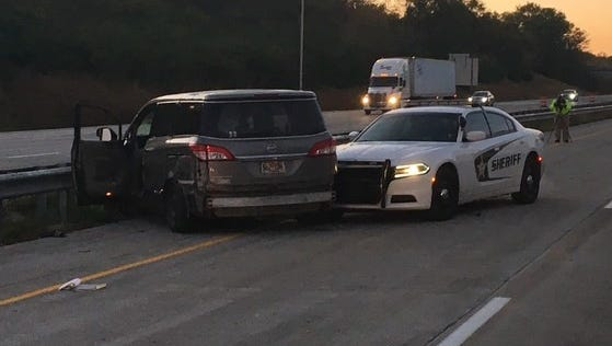 A Wisconsin man led Indiana police on a 45-minute chase that ended on Interstate 65 south of the Indiana 25 exit, according to Indiana State Police. The man was driving a stolen vehicle and had kidnapped a 2-year-old child, police said.