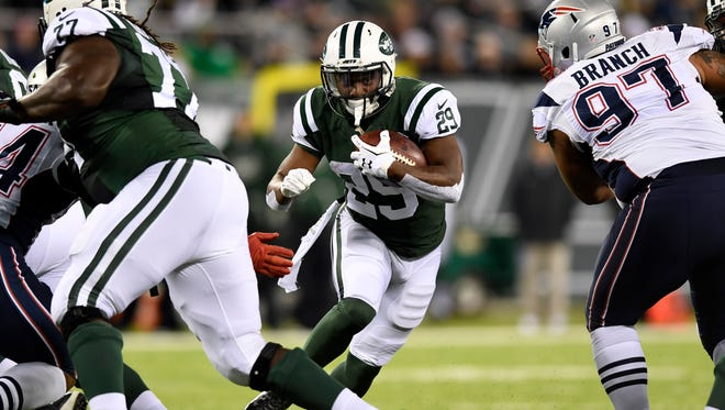 Jets running back Bilal Powell will be a key if the Jets are to have success against the Patriots on Saturday.