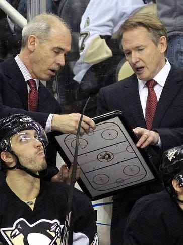 Coach Mike Johnston and assistant coach Gary Agnew