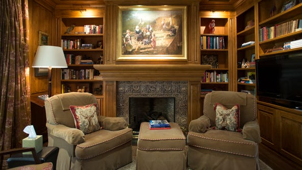 The study in the Paradise Valley home of Sharron Lewis