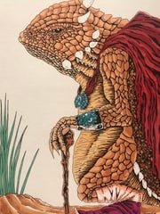 """Keith Jim's """"So cheii (Horned Toad)."""""""