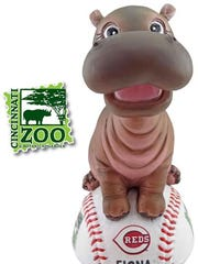 Cincinnati Reds gave out Fiona the hippo bobbleheads to fans when they played the Detroit Tigers on June 19, 2018.