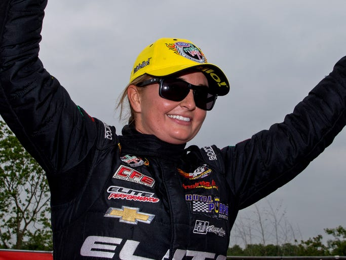 Erica Enders-Stevens, born Oct. 8, 1983, in Houston, made her NHRA Pro Stock debut in 2005, becoming the first woman to compete in the category since 1993.