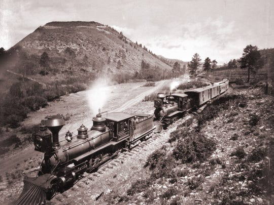 "Railroads hired photographers to document routes and lure tourists, as seen in ""Veta Pass, Colorado Territory,"" 1882, by William Henry Jackson (1843–1942), mammoth albumen print. Collection of Michael Mattis and Judith Hochberg"