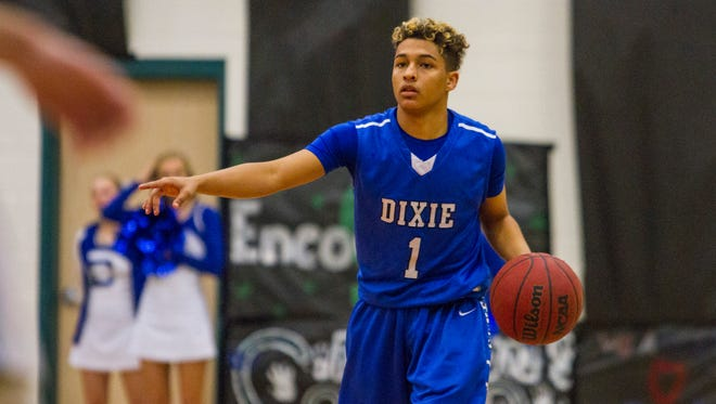 Dixie's Korbyn Elzy against Canyon View, December 6, 2016.