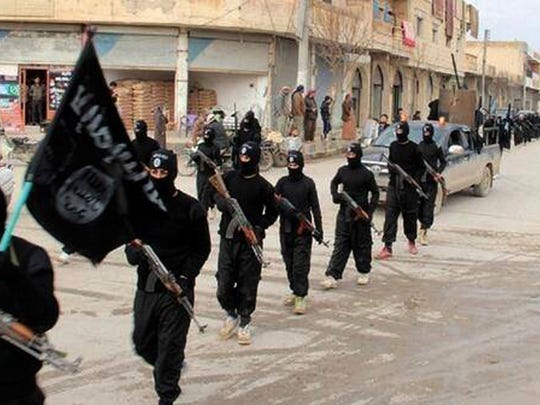 Fighters from the al-Qaida linked Islamic State of