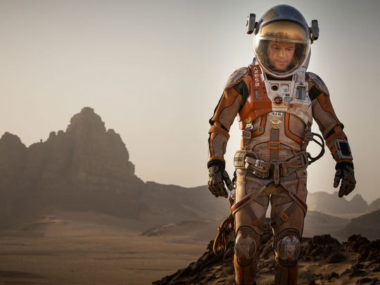 Best picture: 'The Martian' tracks the efforts of an astronaut (Matt Damon) stranded alone on the red planet and his efforts (and those of NASA) to find a way to survive and get home.