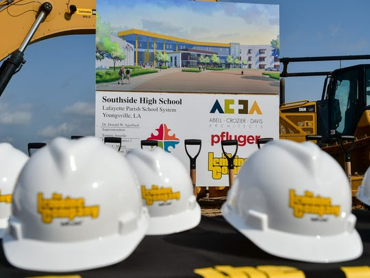 Southside High School construction began Friday. The