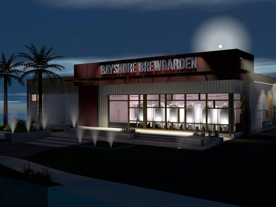 A rendering of Ankrolab Brewing Co., a microbrewery and garden targeted to open in late summer 2017 on Bayshore Drive in East Naples.