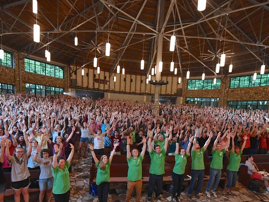 Young conferees from Montreat Conference Center and