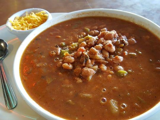 The vegetarian chili at Chompie's.