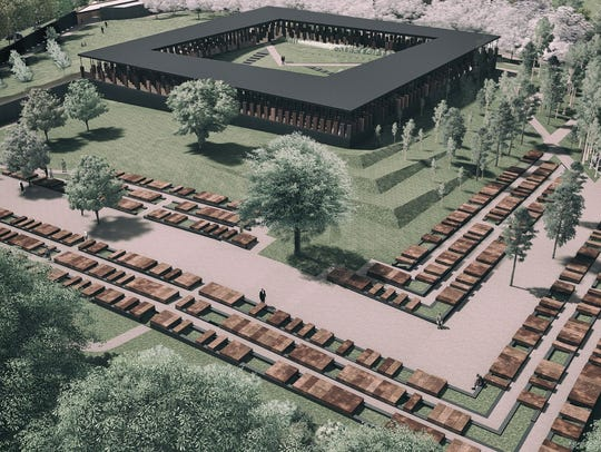 Artist's rendering of the memorial.