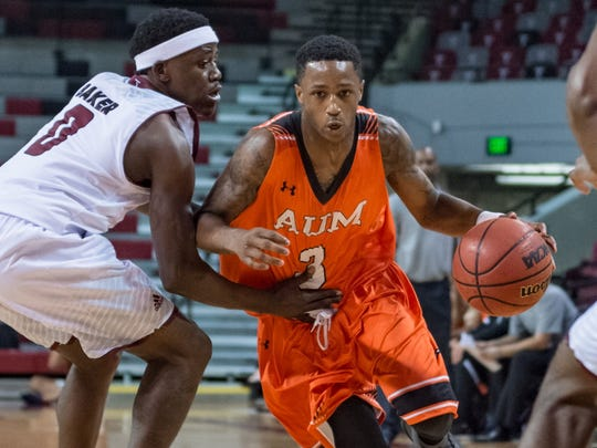 DeRamus, a redshirt junior guard from Montgomery, Ala., averaged 20 points over two games for AUM, as the men's basketball team went 1-1 on the week. The Warhawks won their first Gulf South Conference game in school history on Saturday, with DeRamus scoring a team-high 23 points.