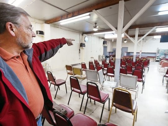 Jeff Sterner talks about the auction hall at Mt. Royal Auction in Dover Township. Sterner sold the business that has been in operation since 1956.