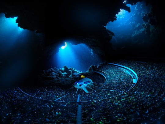 "An example of an ""underwater"" performance at MSG Sphere."