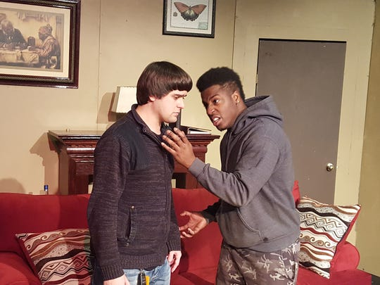 """Gabe Sharp, left, and Michael McKissack Jr. in SistaStyle Productions' """"Chasing Jeremy."""""""