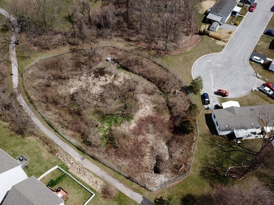 A group of neighbors stretching from East Manchester Township to Manchester Borough are in a legal battle over a retention pond, Wednesday, April 4, 2018.  John A. Pavoncello photo