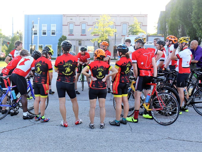 Fourteen Cyclists rode 219 miles from Milan, Tennessee