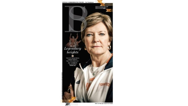 USA Today Network members can download a printable poster of the July 10th edition of The Tennessean celebrating Pat Summitt's life.