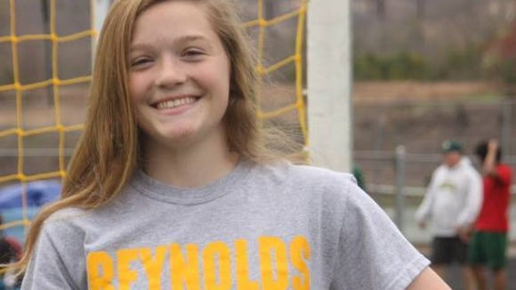 Recent Reynolds graduate Megan McCallister was named the most valuable player of Tuesday night's East-West All-Star soccer game.