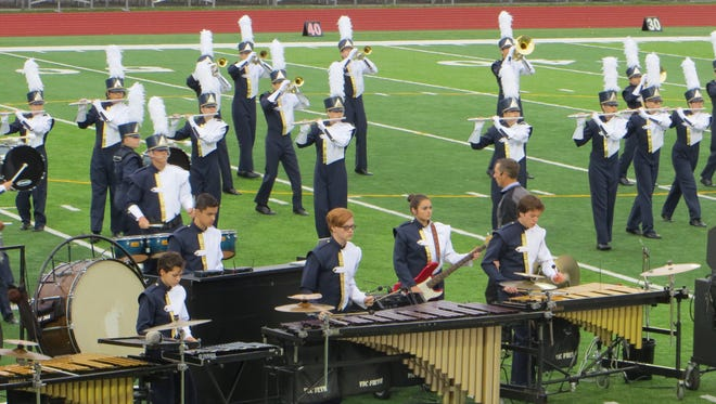 The 53-member Pride of Lions Marching Band raked in a first-place Flight II finish at the Great Lakes Invitational.
