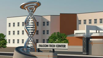 A rendering of the proposed Falcon Tech Center, just west of city-owned Falcon Field Airport.