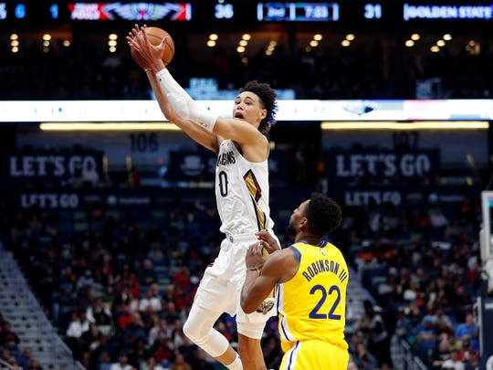 Jaxson Hayes' double-double in first NBA start for Pelicans with dad, Jonathan, on hand