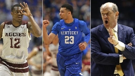 Texas A&M (Jalen Jones), Kentucky (Jamal Murray) and Vanderbilt (Kevin Stallings) will represent the SEC in the 2016 NCAA Tournament starting Tuesday in Dayton.