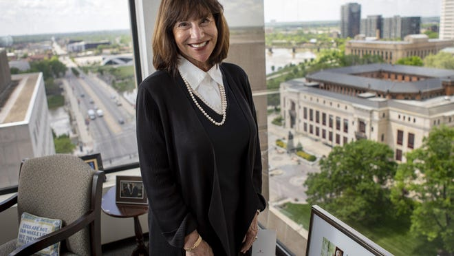 Laurie Stein Marsh, shown in her Downtown office, is retiring from her position as the executive director of Leadership Columbus after 30 years on the job. During that time, she's endeared herself to about 2,000 graduates.