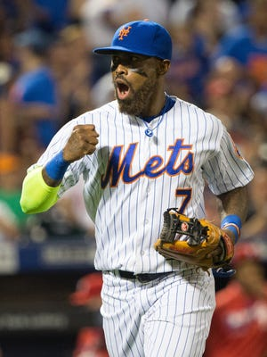Jose Reyes batted .267 in 60 games with the Mets this season.