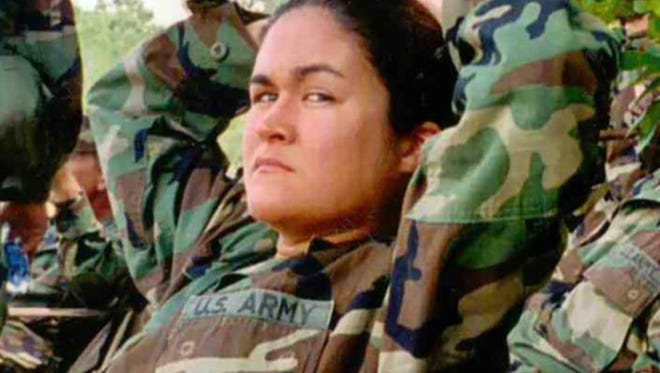 Tara Cronk during her time serving in the U.S. Army.