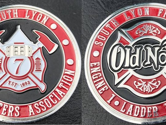 The South Lyon Fire Fighters Association is selling challenge coins to raise money for its philanthropic efforts.