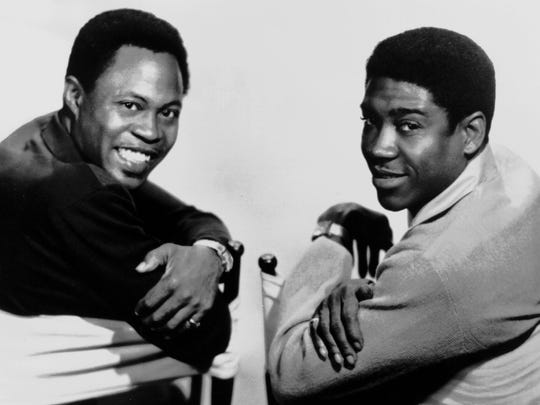 Sam and Dave in undated handout photograph. The former Stax Records stars will be honored with a Grammy Lifetime Achievement Award.