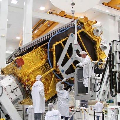 European builder Thales Alenia Space built the satellite