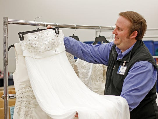 Goodwill worker Brett Ehret prepares for the big Goodwill