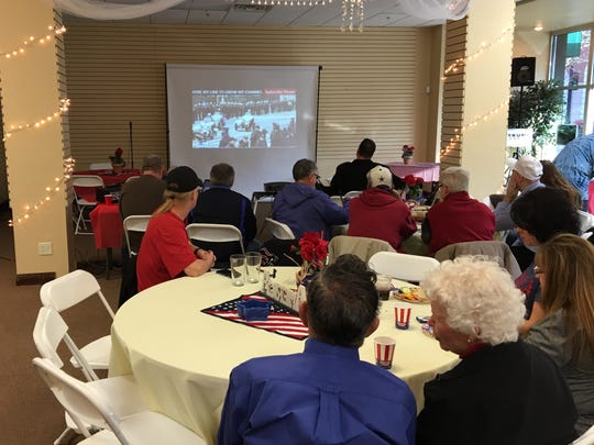 About 55 Trump supporters gathered in Joplin on Friday for the inauguration.