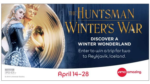 """To celebrate the upcoming movie premiere of """"The Huntsman:"""