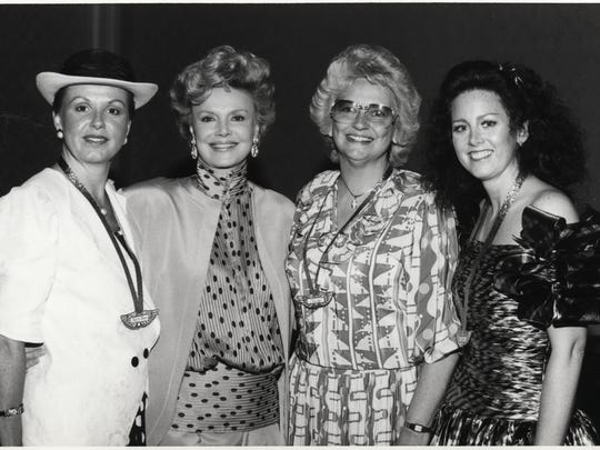 L to R: Mrs. Mary Anne Wallentine, Barbara Sinatra, Mrs. Melody Dolan, Karen Franich Lurkman