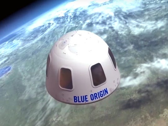 This undated image provided by Blue Origin shows an