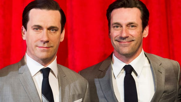 AP JON HAMM WAX FIGURE UNVEILING AT MADAME TUSSAUDS A ENT USA NY